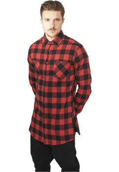 koszula SIDE-ZIP LONG CHECKED FLANELL blk/red
