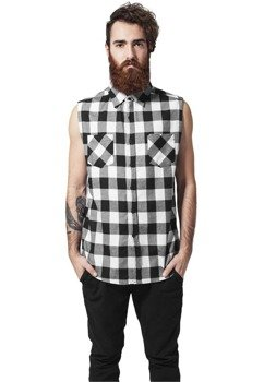 koszula SLEEVELESS CHECKED FLANELL blk/wht