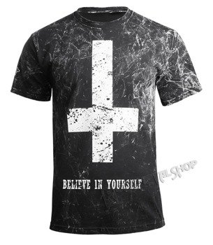koszulka AMENOMEN - BELIEVE IN YOURSELF (OMEN003KM BLACK ALLPRINT WHITE)