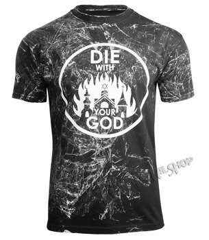 koszulka AMENOMEN - DIE WITH YOUR GOD (OMEN071KM BLACK ALLPRINT WHITE)