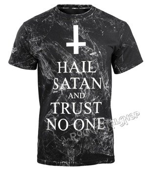 koszulka AMENOMEN - HAIL SATAN AND TRUST NO ONE (OMEN095KM ALLPRINT WHITE)