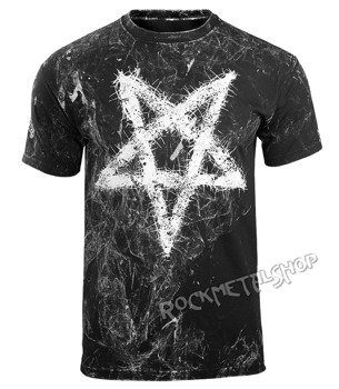 koszulka AMENOMEN - PENTAGRAM (OMEN096KM ALLPRINT WHITE)