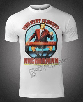 koszulka ANCHORMAN: THE LEGEND OF RON BURGUNDY - YOU STAY CLASSY