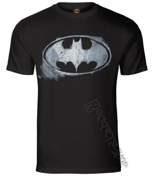 koszulka BATMAN - LOGO MONO DISTRESSED