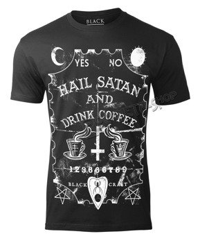koszulka BLACK CRAFT - HAIL SATAN AND DRINK COFFE