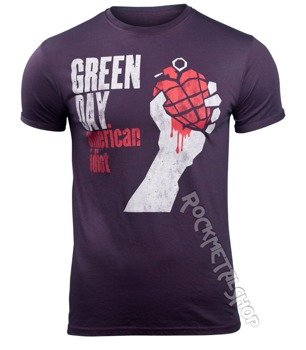 koszulka GREEN DAY - AMERICAN IDIOT MENS BURNOUT
