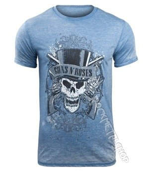 koszulka GUNS N ROSES - FADED SKULL MENS BURNOUT