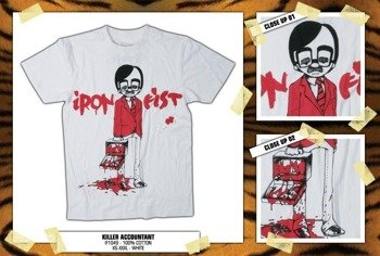koszulka IRON FIST '09 (Killer Accountant) (white)