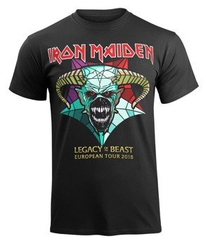 koszulka IRON MAIDEN - EURO TOUR 2018, LEGACY OF THE BEAST , koncertowa