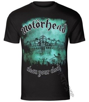 koszulka MOTORHEAD - CLEAN YOUR CLOCK GREEN