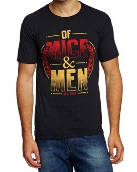 koszulka OF MICE AND MEN - WREATH RED GOLD
