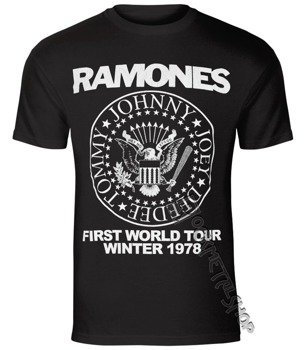 koszulka RAMONES - FIRST WORLD TOUR 1978