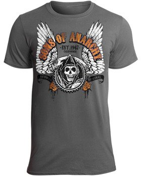 koszulka SONS OF ANARCHY - WINGED REAPER  grey