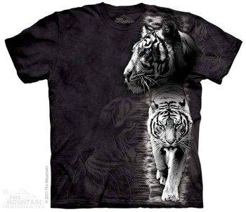 koszulka THE MOUNTAIN - WHITE TIGER STRIPE, barwiona