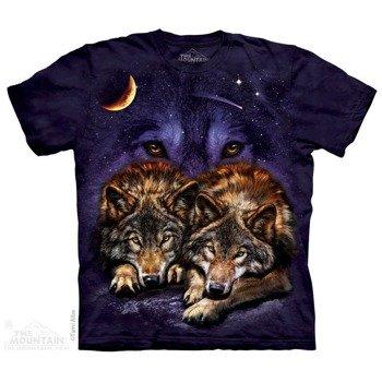koszulka THE MOUNTAIN - WOLF SKY, barwiona