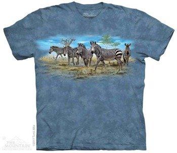 koszulka THE MOUNTAIN - ZEBRA GATHERING, barwiona