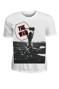 koszulka THE WHO - LIVE WHITE