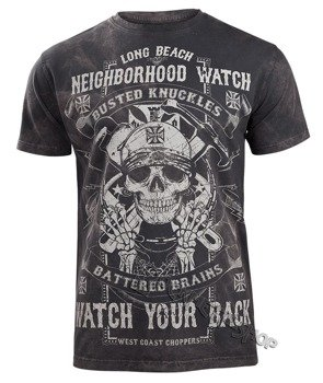 koszulka WEST COAST CHOPPERS - NEIGHBORHOOD WATCH TEE - black