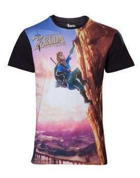 koszulka ZELDA BREATH OF THE WILD - ALL OVER LINK CLIMBING