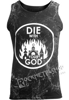koszulka na ramiączkach AMENOMEN - DIE WITH YOUR GOD (OMEN071KR ALLPRINT WHITE)