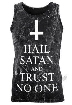 koszulka na ramiączkach AMENOMEN - HAIL SATAN AND TRUST NO ONE (OMEN095KR ALLPRINT WHITE)