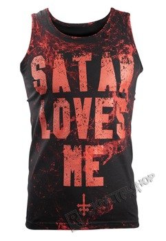 koszulka na ramiączkach AMENOMEN - SATAN LOVES ME (OMEN057KR ALLPRINT RED)