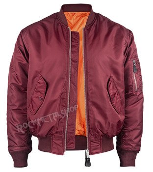 kurtka flyers MA1 JACKET burgundy