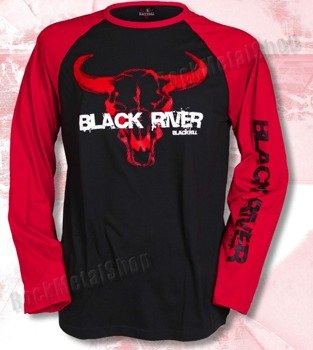longsleeve BLACK RIVER - BLACK'N'ROLL black/red raglan