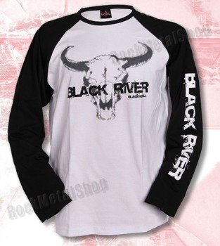 longsleeve BLACK RIVER - BLACK'N'ROLL black/white raglan