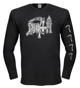 longsleeve DEATH - OLD LOGO WHITE
