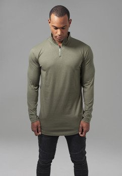 longsleeve LONG SHAPED TURTLE ZIP olive