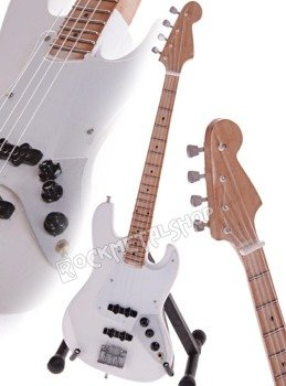 miniaturka gitary ROLLING STONES - JOHN PAUL JONES JAZZ BASS WHITE