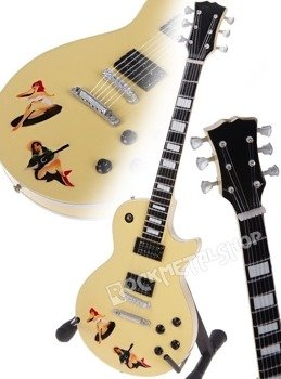 "miniaturka gitary SEX PISTOLS - STEVE JONES: LES PAUL CUSTOM ""PIN-UP"""