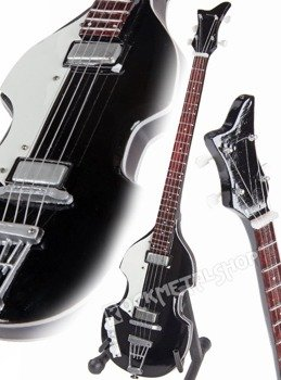 miniaturka gitary basowej THE BEATLES - PAUL MCCARTNEY: BLACK HOFNER BASS