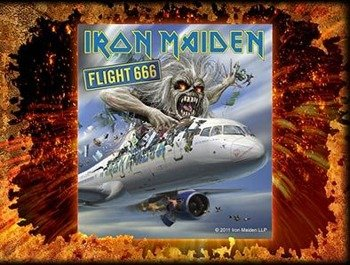 naklejka IRON MAIDEN - FLIGHT 666