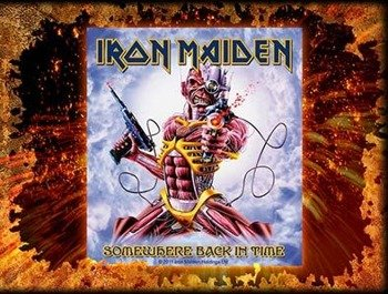 naklejka IRON MAIDEN - SOMEWHERE BACK IN TIME