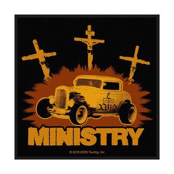 naszywka MINISTRY - JESUS BUILT MY HOTROD