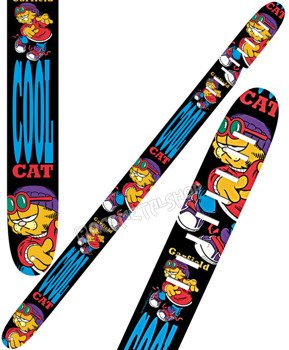 pas do gitary GARFIELD - COOL CAT skórzany, 63mm