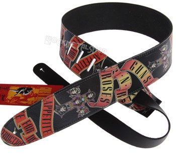 pas do gitary GUNS N' ROSES - APPETITE FOR DESTRUCTION skórzany, 63mm