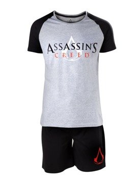 piżama ASSASSIN'S CREED - CORE LOGO BLACK AND WHITE SHORTAMA