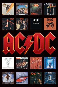 plakat AC/DC - ALBUM COVERS