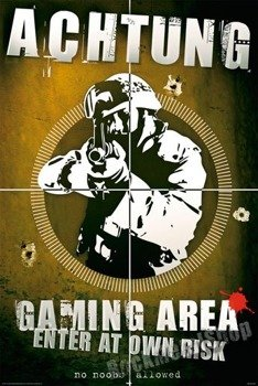 plakat ACHTUNG - GAMING