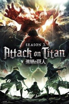 plakat ATTACK ON TITAN - SEASON 2 KEY ART