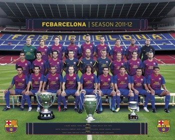 plakat BARCELONA - TEAM PHOTO 11/12