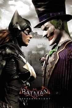plakat BATMAN: ARKHAM KNIGHT - BATGIRL AND JOKER