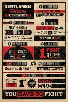 plakat FIGHT CLUB - INFOGRAPHIC