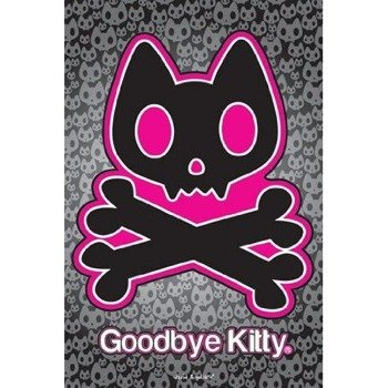 plakat GOODBYE KITTY - SKULL & CROSSBONES