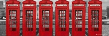 plakat LONDON - PHONEBOXES