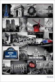 plakat PARIS - COLLAGE