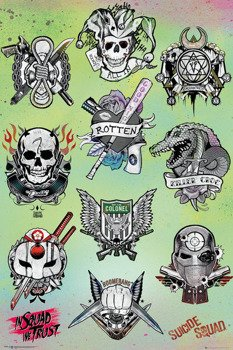 plakat SUICIDE SQUAD - TATTOO PARLOR